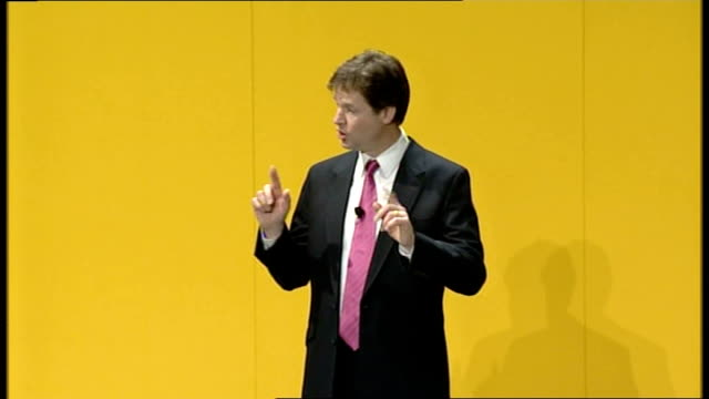 liberal democrats conference: nick clegg delivers first major speech as leader; - i met a remarkable young man a couple of months ago in southwark.... - 2 5 months stock videos & royalty-free footage
