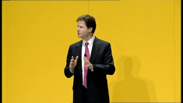 nick clegg delivers first major speech as leader our party is growing we're going from strength to strength more supporters more members more mps... - fake hospital stock videos & royalty-free footage