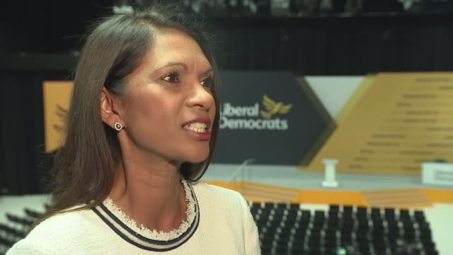 liberal democrats conference: vince cable claims anti-brexit message is starting to get through; uk, east sussex, brighton: gina miller interview,... - women politics stock videos & royalty-free footage