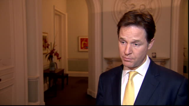 liberal democrats decide not to pursue disciplinary action against lord rennard over sexual harassment claims england london int nick clegg mp... - クリス・レナード点の映像素材/bロール