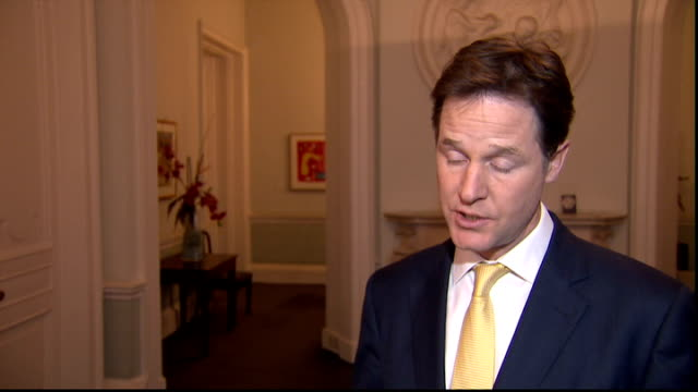 liberal democrats decide not to pursue disciplinary action against lord rennard over sexual harassment claims london nick clegg mp interview sot... - クリス・レナード点の映像素材/bロール