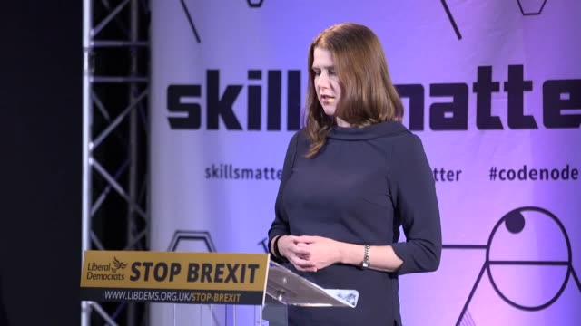 liberal democrats leader jo swinson has said she is prepared to do whatever it takes to stop brexit as she welcomed the party's latest mp sarah... - kenneth clarke stock-videos und b-roll-filmmaterial