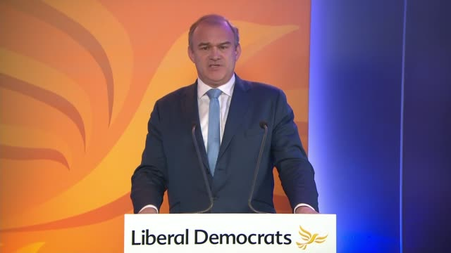liberal democrats online conference 2020: ed davey speech; england: london: westminster: int ed davey mp speech to camera sot - the challenge facing... - school of fish stock videos & royalty-free footage