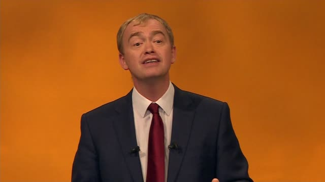 tim farron speech farron speech sot and who needs focus groups when you can stand in kendal market and find out exactly what people think even if you... - bear market stock videos and b-roll footage