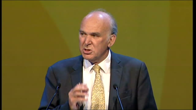 vince cable speech vince cable mp speech continues sot we should not be taken in by the hysterical nonsense about the country being bankrupt it isn't... - bear market stock videos and b-roll footage