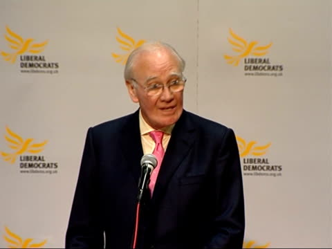 Sir Menzies Campbell speech at Eastern Region Conference ENGLAND Suffolk Mildenhall INT Sir Menzies Campbell MP speech SOT In the next election the...