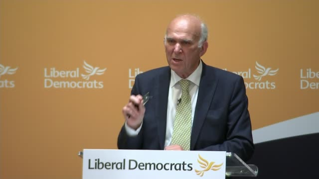 sir vince cable elected new leader; cable onto stage to be congratulated by jo swinson sot sir vince cable mp speech sot - what we now need is an... - vince cable stock videos & royalty-free footage
