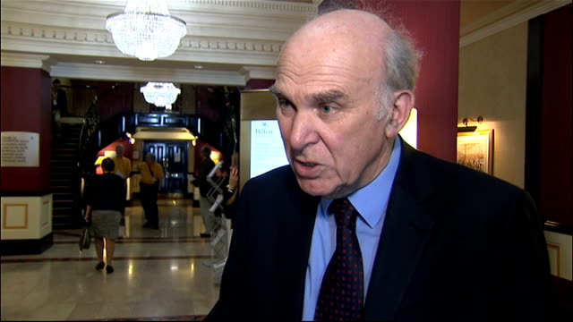 vince cable interview gvs england east sussex brighton int vince cable mp interview sot i am a very strong champion of my department / vital for long... - east sussex stock videos & royalty-free footage