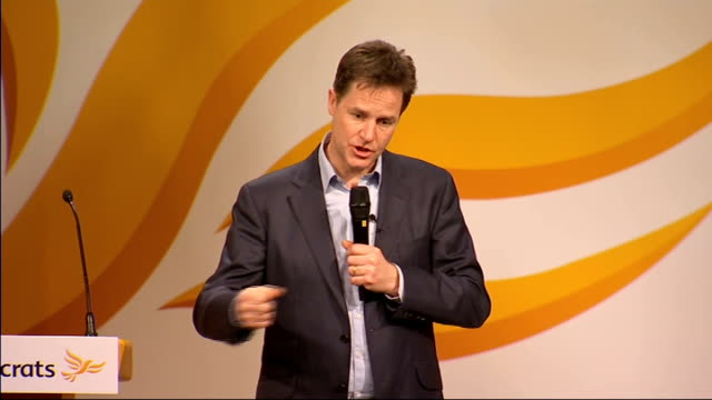 nick clegg question and answer session about syria spreading into middle east and the usa i am not going to pretend there is a neat solution / very... - pacific city stock videos & royalty-free footage