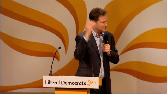 nick clegg question and answer session about pushing it for rural areas to bring you up to date / michael heseltine came up with a very good report /... - paying rent stock videos & royalty-free footage