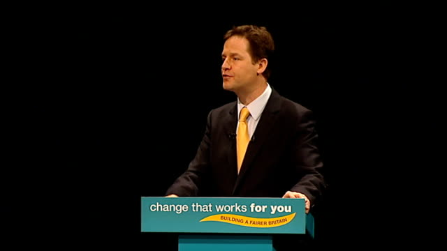 Nick Clegg speech Nick Clegg MP speech SOT Once the banks are lending again We can turn our attention not just to protecting jobs but to creating new...
