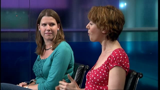 liberal democrats want to ban digital enhancement in adverts aimed at children england london gir int jo swinson mp interview sot these aren't real... - digital enhancement stock videos and b-roll footage