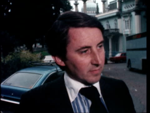"""stockvideo's en b-roll-footage met liberal party conference: david steel interview; england: brighton: david steel mp sof: """"well i think its.............. .........................same... - david steel politiek"""