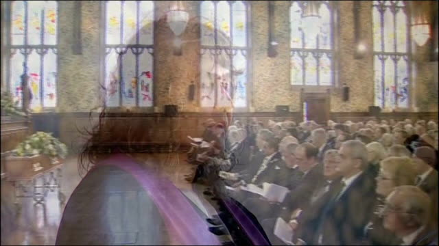 liberal politician cyril smith buried in rochdale england lancashire rochdale int various views of reverend gillian peel presiding over funeral for... - cyril smith politician stock videos & royalty-free footage