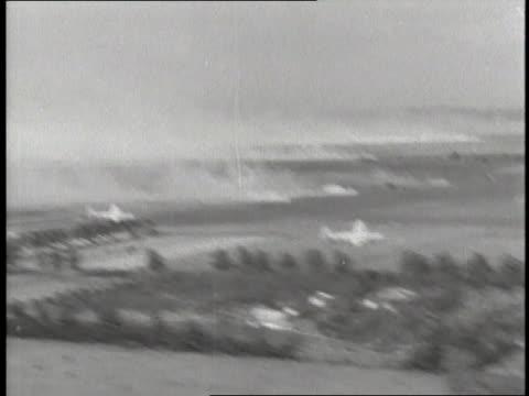 B24 Liberators bomb the Ploesti oil fields in Romania