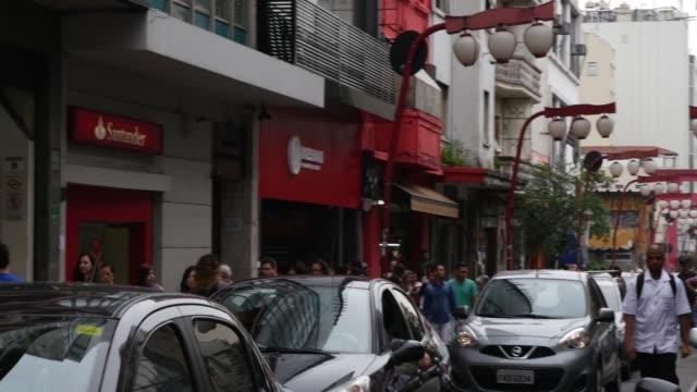 巴西聖保羅的利伯達德社區 - liberdade 個影片檔及 b 捲影像