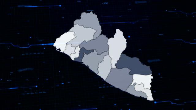 Liberia network map