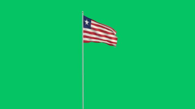 liberian flag rising