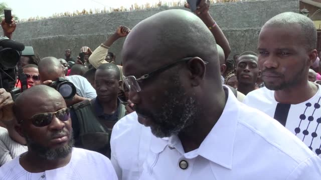 Liberian presidential candidate and former international footballer George Weah says victory is certain and I am going to win after casting his vote...
