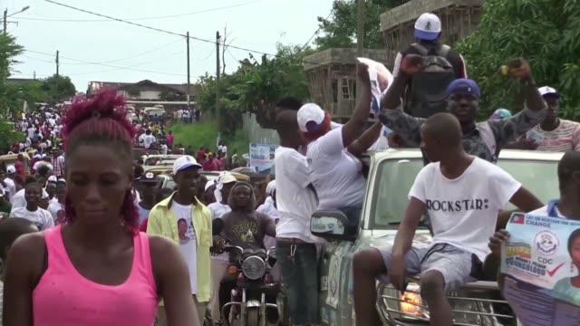 Liberia's presidential campaign neared its close on Sunday