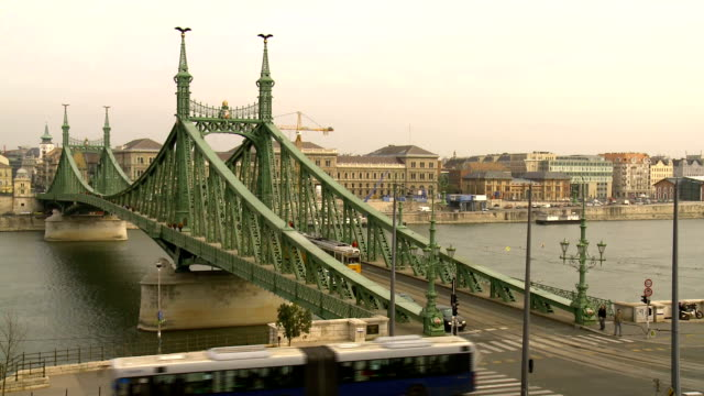liberty bridge compilation, budapest - liberty bridge budapest stock videos & royalty-free footage