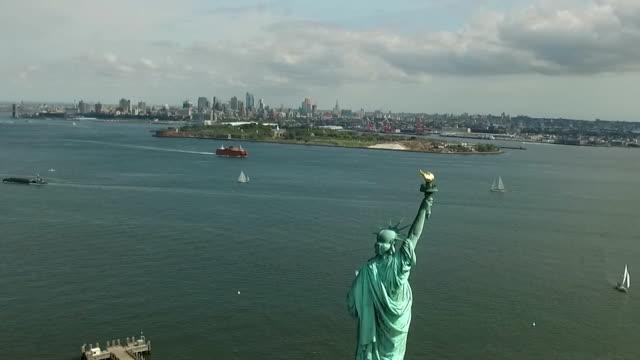 自由島 7 - statue of liberty new york city 個影片檔及 b 捲影像