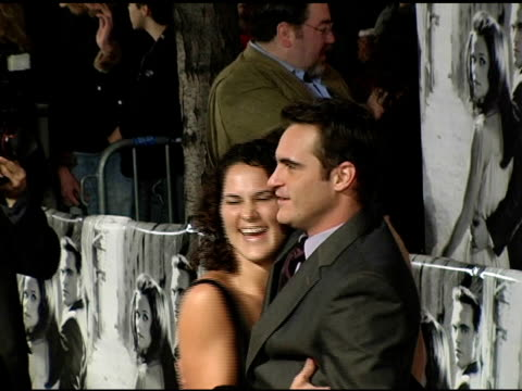 Liberty Phoenix and Joaquin Phoenix at the 'Walk The Line' New York Premiere at the Beacon Theater in New York New York on November 13 2005