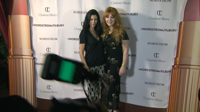 stockvideo's en b-roll-footage met liberty ross charlotte tilbury at nordstrom presents charlotte tilbury's 'makeup your destiny' beauty festival at nordstrom at the grove on october... - nordstrom