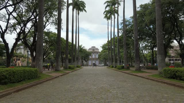 liberty square, a famous place in belo horizonte city. praca da liberdade. - liberdade stock videos & royalty-free footage