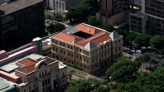 liberty square, belo horizonte - aerial view - minas gerais, belo horizonte, brazil - minas gerais stock videos and b-roll footage