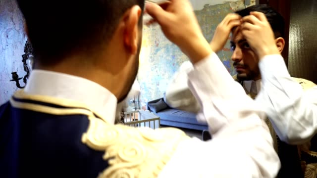 libic business man in front of the mirror - lebanese ethnicity stock videos and b-roll footage