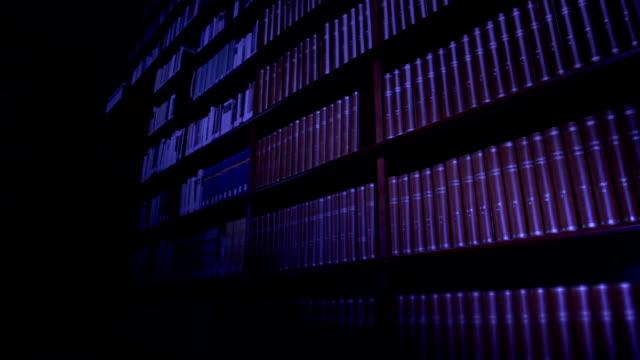 Bibliothek bei Nacht