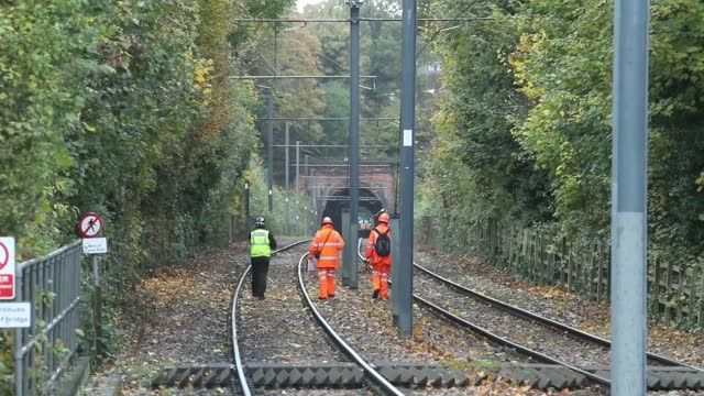 library footage from the scene of the croydon tram crash in november 2016. victims died as a result of an accident and were not unlawfully killed,... - number 7 stock videos & royalty-free footage