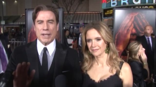 vídeos y material grabado en eventos de stock de library footage of actress kelly preston the wife of john travolta who has died aged 57 preston who starred in films such as mischief twins and jerry... - kelly preston
