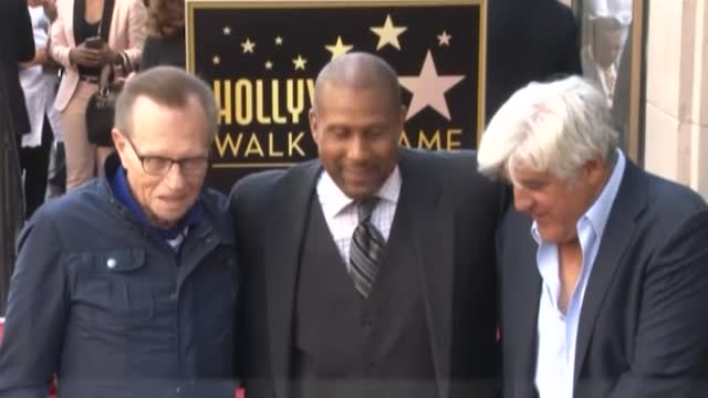 library footage of larry king at wolfgang puck and tavis smiley's hollywood star ceremonies. american talk show host larry king has died at the age... - wolfgang puck stock videos & royalty-free footage