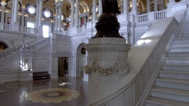 library of congress great hall ceiling in washington, dc - biblioteca video stock e b–roll