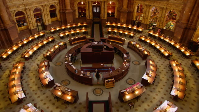 library of congress interior - united states congress stock-videos und b-roll-filmmaterial
