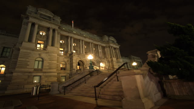 Library of Congress night time lapse