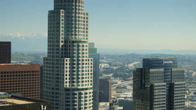 DTLA Library Tower and Mountains