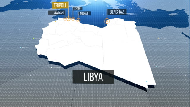 libya map - graphic war footage stock videos & royalty-free footage