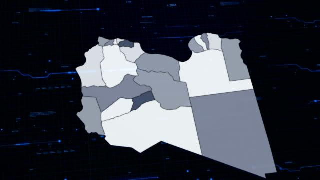 Libya network map