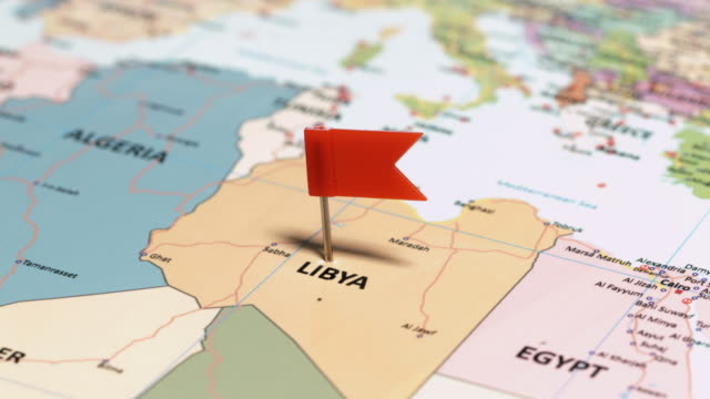 libya with pin - libya stock videos and b-roll footage