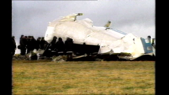 libyan convicted of lockerbie bombing launches new appeal december 1988 dumfries and galloway lockerbie ext plane wreckage - dumfries and galloway stock videos & royalty-free footage