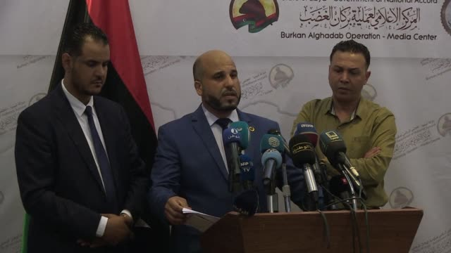 a libyan health ministry spokesman says 187 people have been killed and 1157 wounded on the side of the tripoli based government of national accord... - spokesman stock videos and b-roll footage