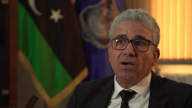 libyan interior minister fathi bashaga saying libya and the uk have built very good relations from 20112019 which theresa may has damaged in one week... - north africa stock videos & royalty-free footage