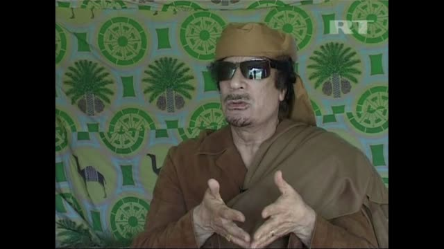 libyan leader moamer kadhafi says he has the backing of his people and that the rebels fighting in the east of the country will soon lose their fight... - muammar gaddafi stock videos & royalty-free footage