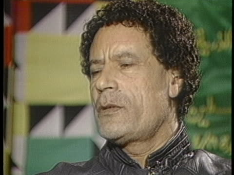 libyan leader muammar al-gaddafi threatens to join the warsaw pact and house soviet missiles. - business or economy or employment and labor or financial market or finance or agriculture stock videos & royalty-free footage