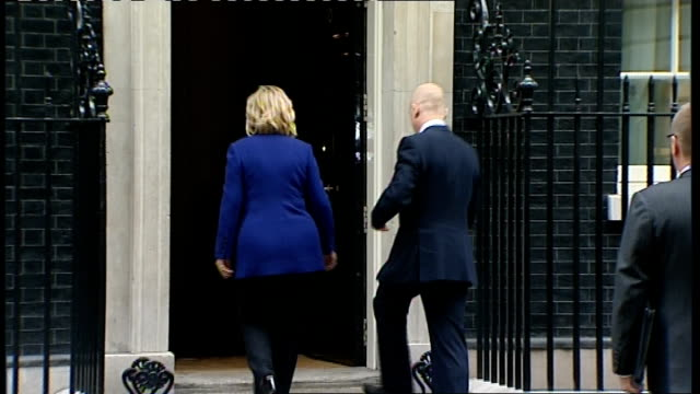 international conference held in london william hague and hillary clinton in downing street england london downing street ext william hague mp and... - william hague stock-videos und b-roll-filmmaterial