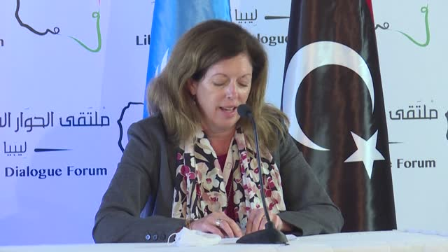 libyans have agreed in un-led talks on a plan to hold elections within 18 months, as diplomatic efforts grow to end a decade of violence in the north... - talking politics stock videos & royalty-free footage