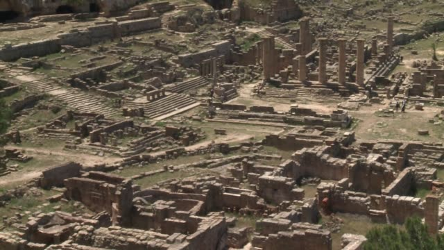 libya's famous ruins at cyrene founded by the greeks in the 4th century bc have been fortunate to escape damage during the recent fighting between... - 4th century bc stock videos and b-roll footage